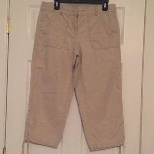 Ann Taylor Loft Tan Capri pants